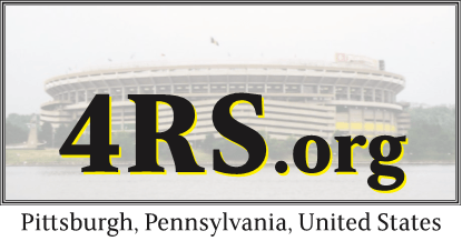 4RS logo with Three Rivers Stadium