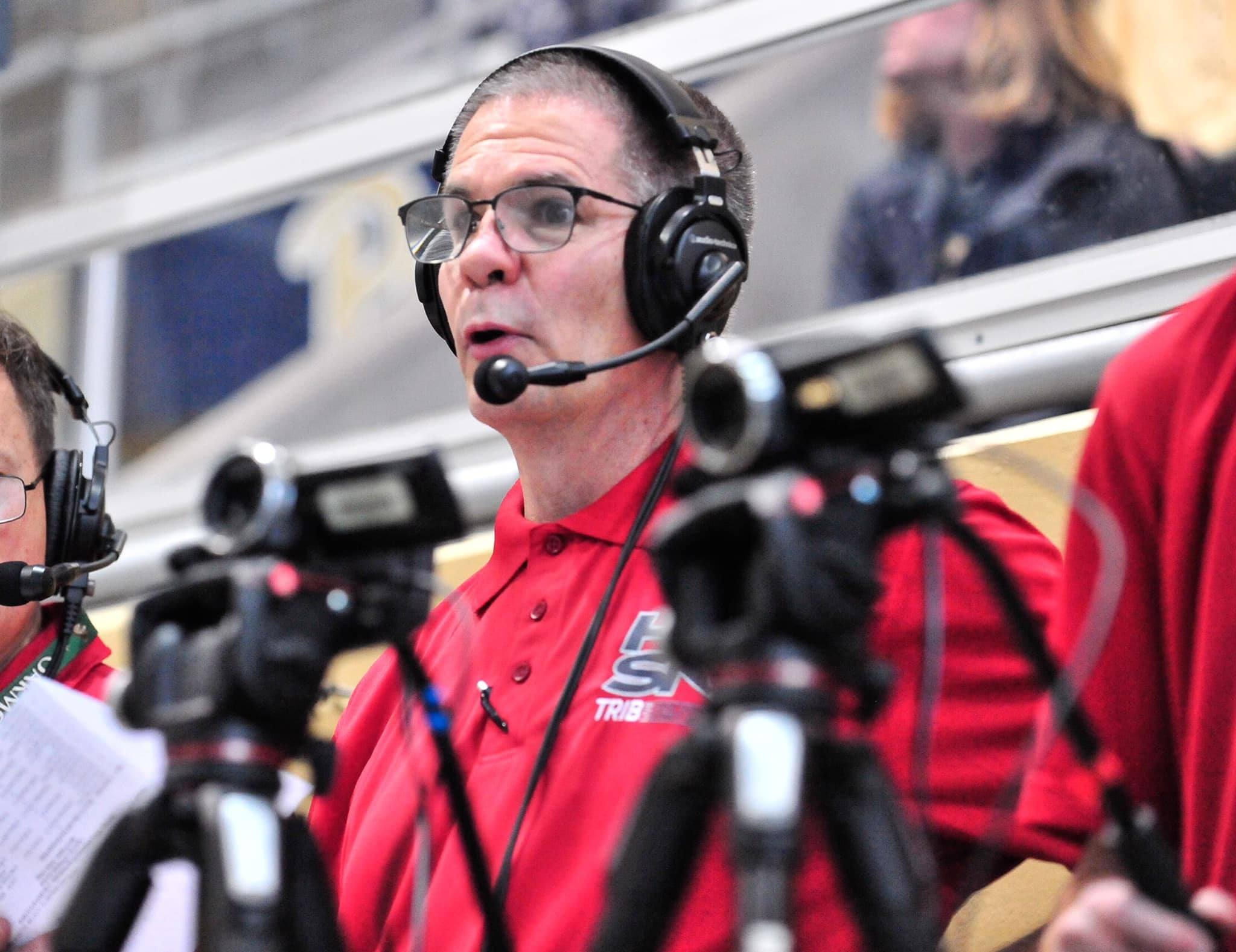 Mark Rauterkus, color commentator with the swim coverage for the TribLIVE High School Sports Network.