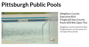 Pools won't open in 2020